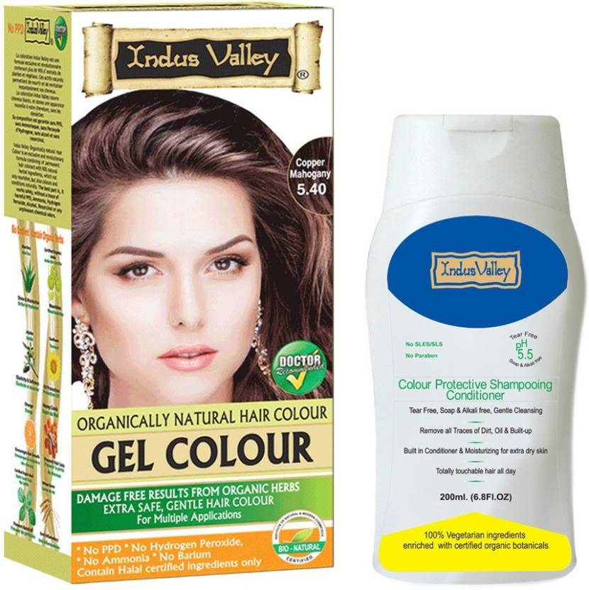 Indus Valley Organically Natural Gel Copper Mahogany 540 Hair Color