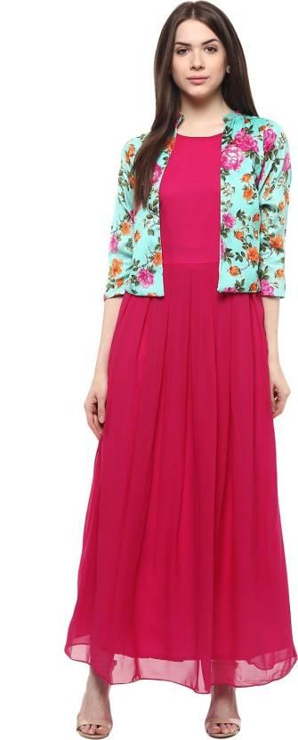 athena women s maxi pink multicolor dress buy pink multicolor