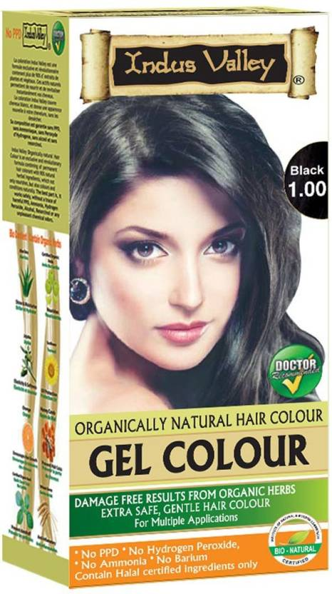9a2092878606c Indus Valley Organically Natural Gel Black 1.00 No Ammonia Hair Color (Black  1.00)
