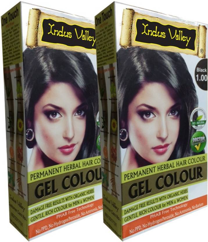 Indus Valley Organically Natural Gel Black 100 Twin Set One Touch