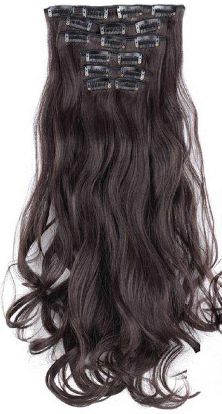 Abrish Natural Brown Curly Hair Hair Extension Price In India Buy