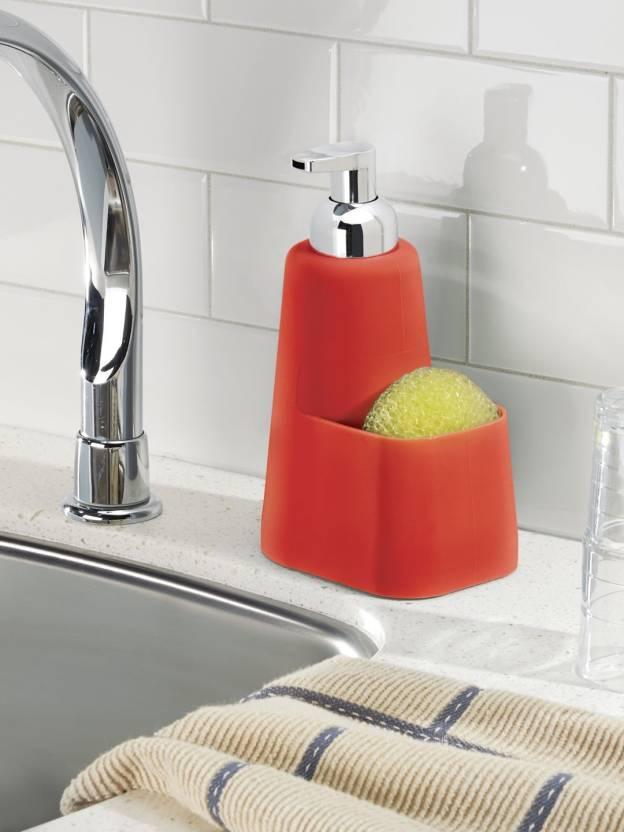Interdesign Lineo Kitchen Foaming Soap Dispenser Pump And Sponge Caddy Organizer 473 Ml Conditioner Foam