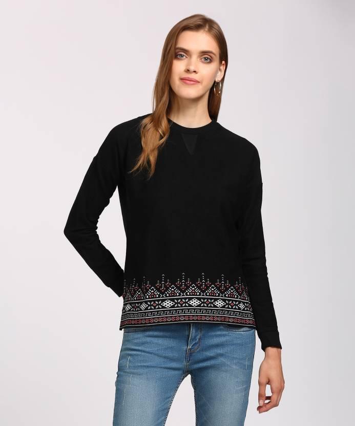fdf6de5449c3b People Casual Full Sleeve Embroidered Women s Black Top - Buy Black People  Casual Full Sleeve Embroidered Women s Black Top Online at Best Prices in  India ...