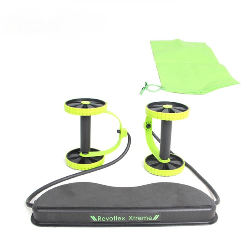 Power Roll Ab Trainer Waist Slimming Exerciser Core Double Wheel Fitness Trainer