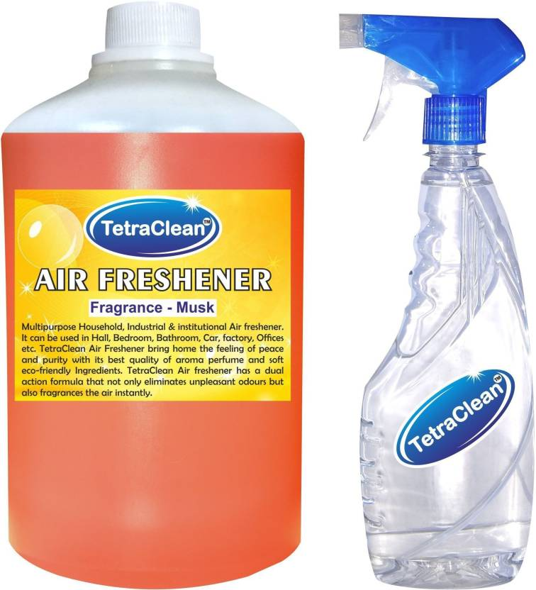 TetraClean Musk Fragrance Air Freshener (1100 ml) With Bottle Spray