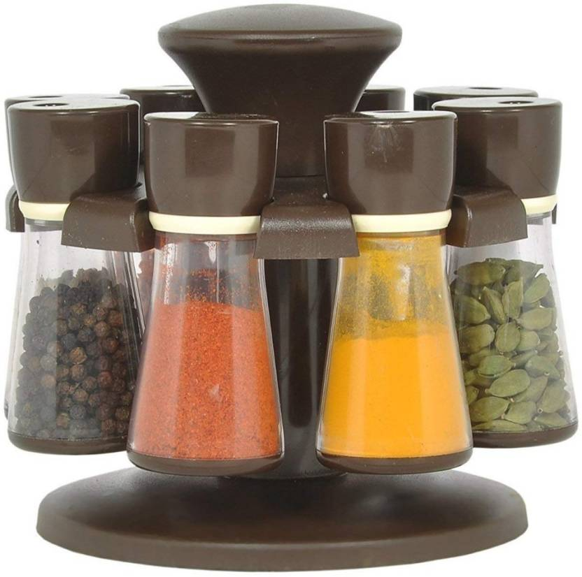 Olypex Jar Revolving Spice Rack Masala Box Condiment Set For Kitchen