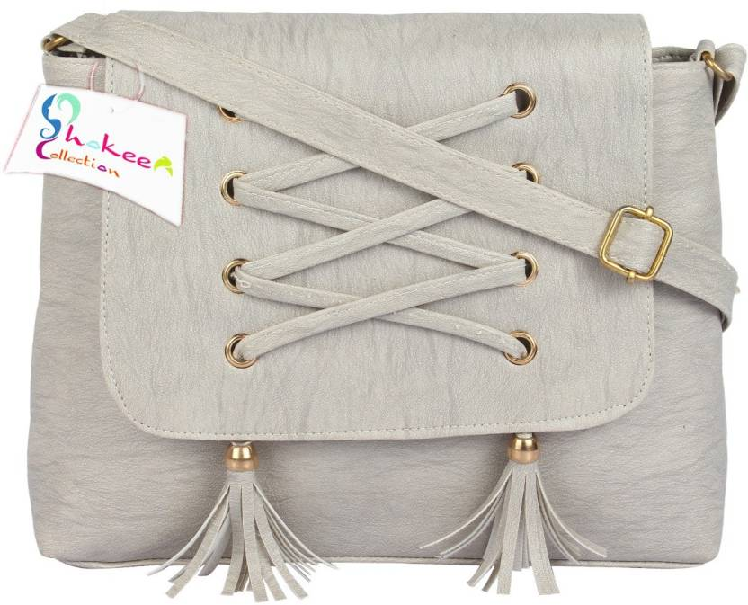 Buy Shokeen Collection Sling Bag Grey Online   Best Price in India ... 9b9a61776f77e
