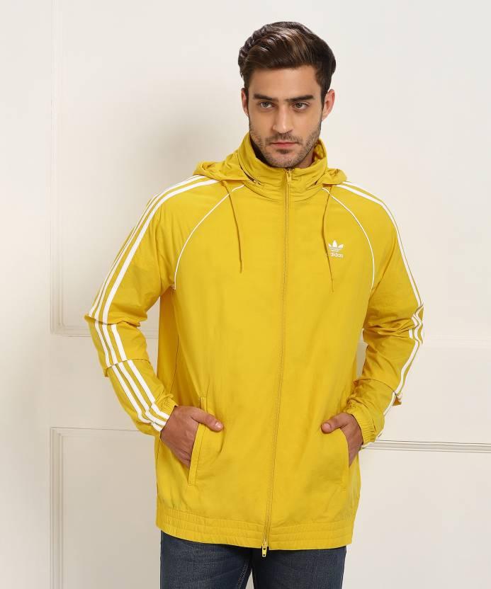 21ba4c711e ADIDAS ORIGINALS Full Sleeve Solid Men s Sports Jacket - Buy yellow ...