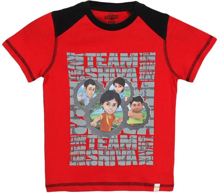 f1192c35d6 SHIVA Boys Graphic Print Cotton T Shirt