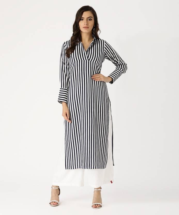 43dc9ef657 Libas Women's Striped Straight Kurta - Buy Libas Women's Striped ...