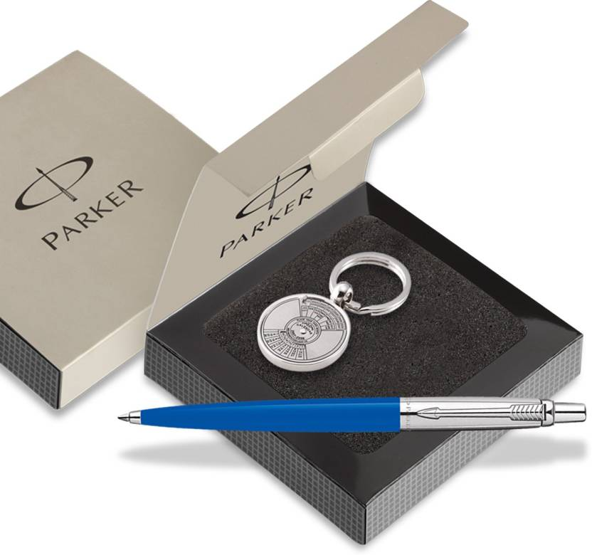 Parker Jotter Std Ct Ball Pen Blue With Perpectual Calendar Key Chain Pen Gift Set