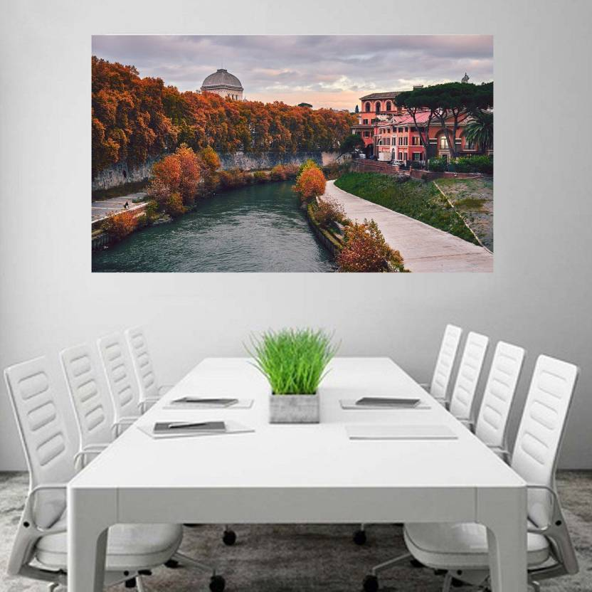 Tiber Island Rome Italy Wallpaper Wall Decor Poster No Framed Large ...
