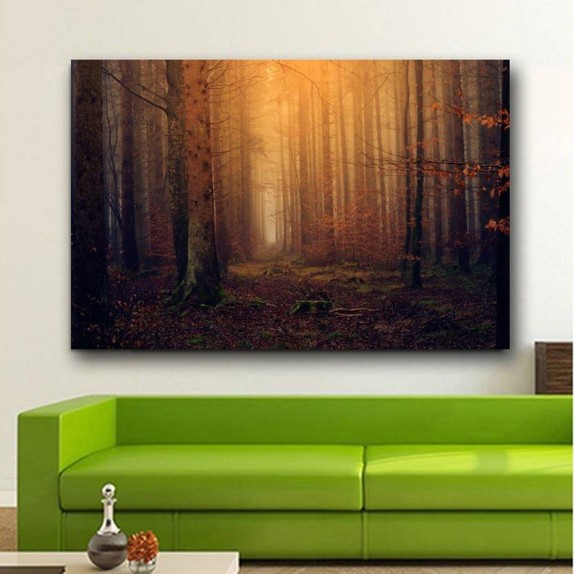 Enchanted Forest Background Wallpaper Wall Decor Poster No