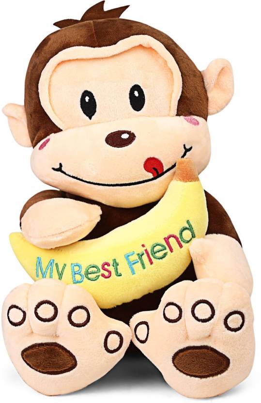My Baby Excels Cute Monkey Plush With Banana 27 Cm 27 Cm Cute