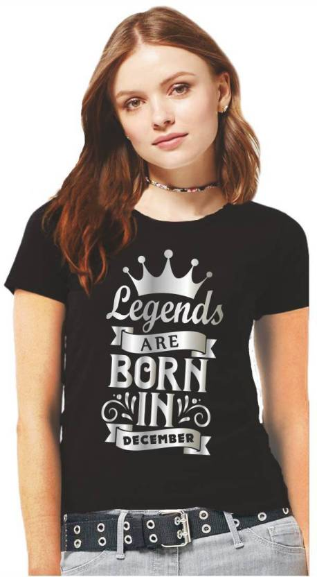 2f1933e78 Hangout Hub Printed Women Round Neck Black, Silver T-Shirt - Buy Hangout  Hub Printed Women Round Neck Black, Silver T-Shirt Online at Best Prices in  India ...