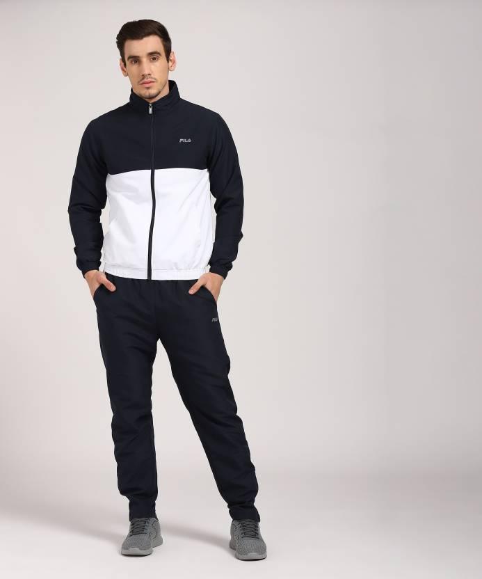 d392cfe7bc52 Fila Solid Men's Track Suit - Buy PEA Fila Solid Men's Track Suit Online at  Best Prices in India | Flipkart.com