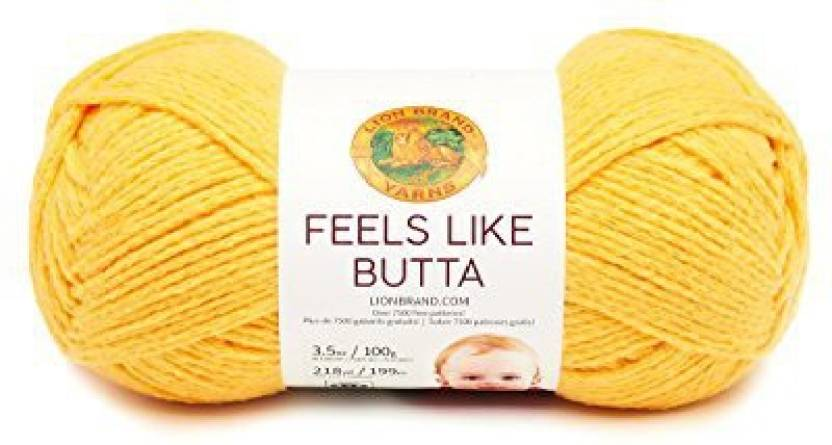 Lion Brand Yarn 215-156 Feels Like Butta Yarn, Mint - 215