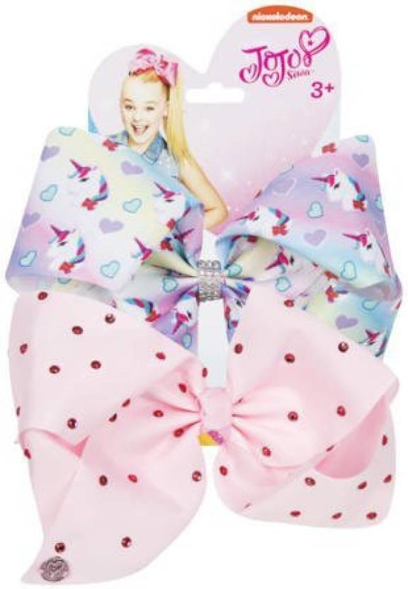 jojo siwa bows rainbow unicorn limited edition girls hair accesories shimmery or rhinestone detail