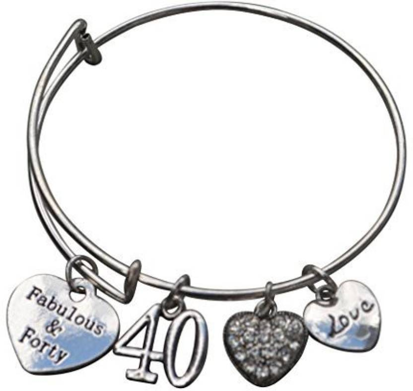 Generic Infinity Collection 40Th Birthday Gifts For Women Expandable Charm Bracelet Ideas Gift Her