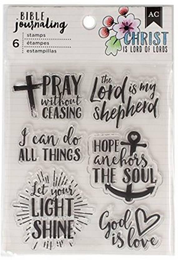American Crafts 378666 Bible Journaling 6 Stamps Pray Lord