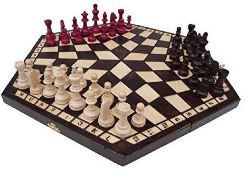 Prime Chess 3 Three Players Set - Large Rules Included Board
