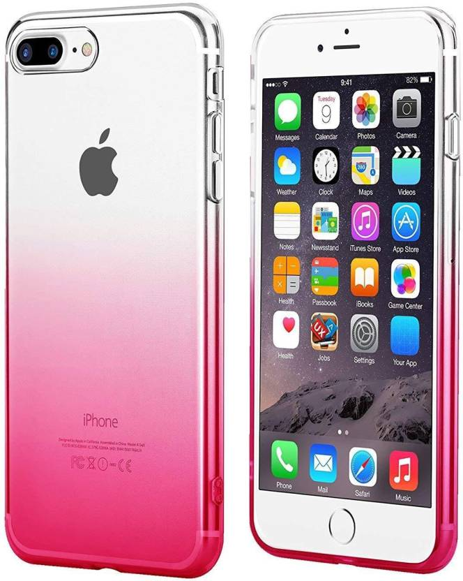 Egotude Back Cover for Apple iPhone 7 Plus, Apple iPhone 8 Plus Pink, Silicon