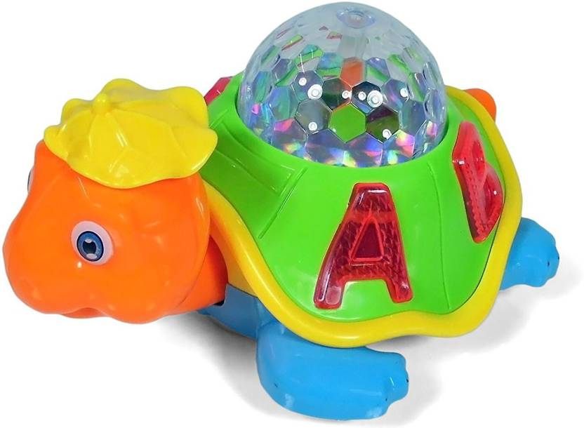 Baby Tintin Babytintin™ Musical Bump & Go Happy Turtle with 3D Disco Light  toy for kids