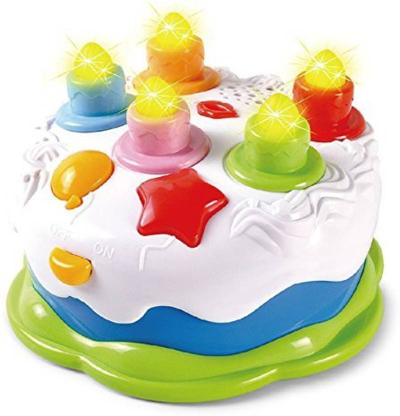 Generic Baoli Blowing Candles Birthday Cake Toy Food Play Set For Kids Children Baby