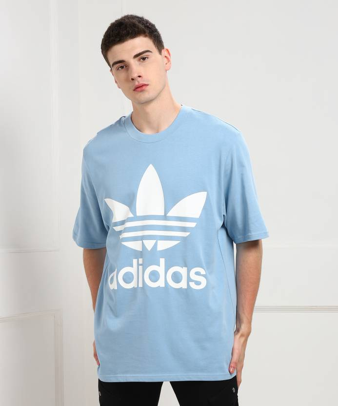 1b31ebabbeaa3 ADIDAS ORIGINALS Printed Men Round Neck Light Blue T-Shirt - Buy Blue  ADIDAS ORIGINALS Printed Men Round Neck Light Blue T-Shirt Online at Best  Prices in ...