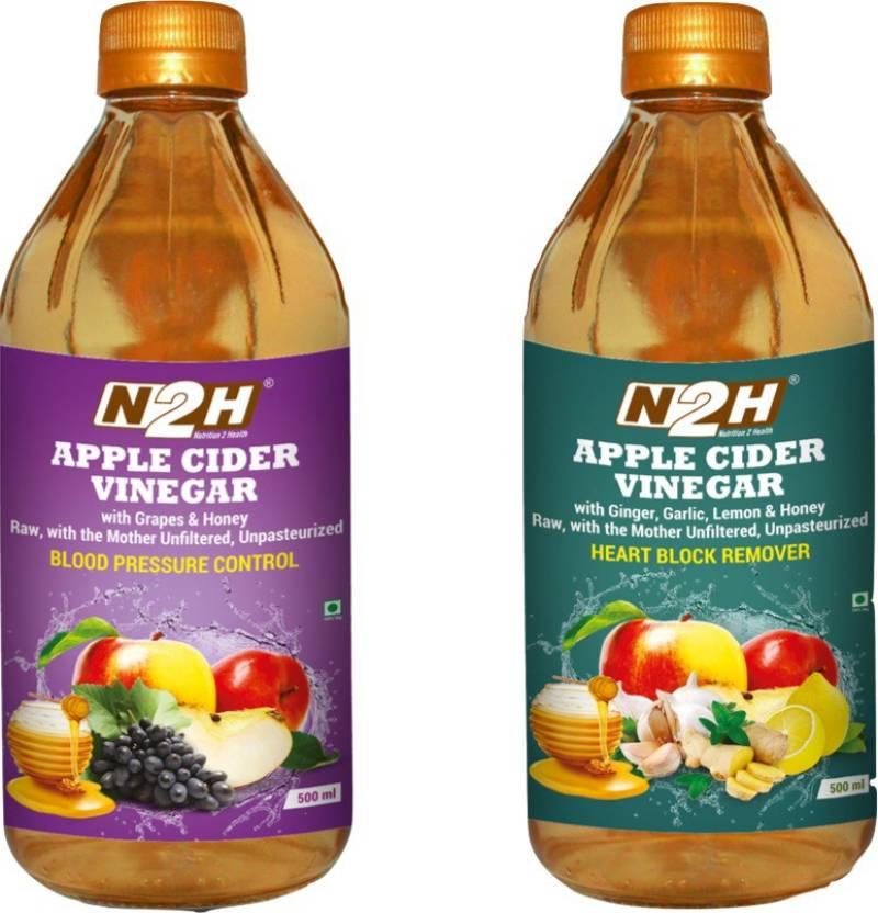 N2H Apple Cider Vinegar Grapes & Honey 500ml Ginger,Garlic