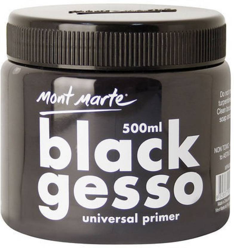 Mont Marte Mpa0040 Black Gesso For Oil Painting Price In India Buy
