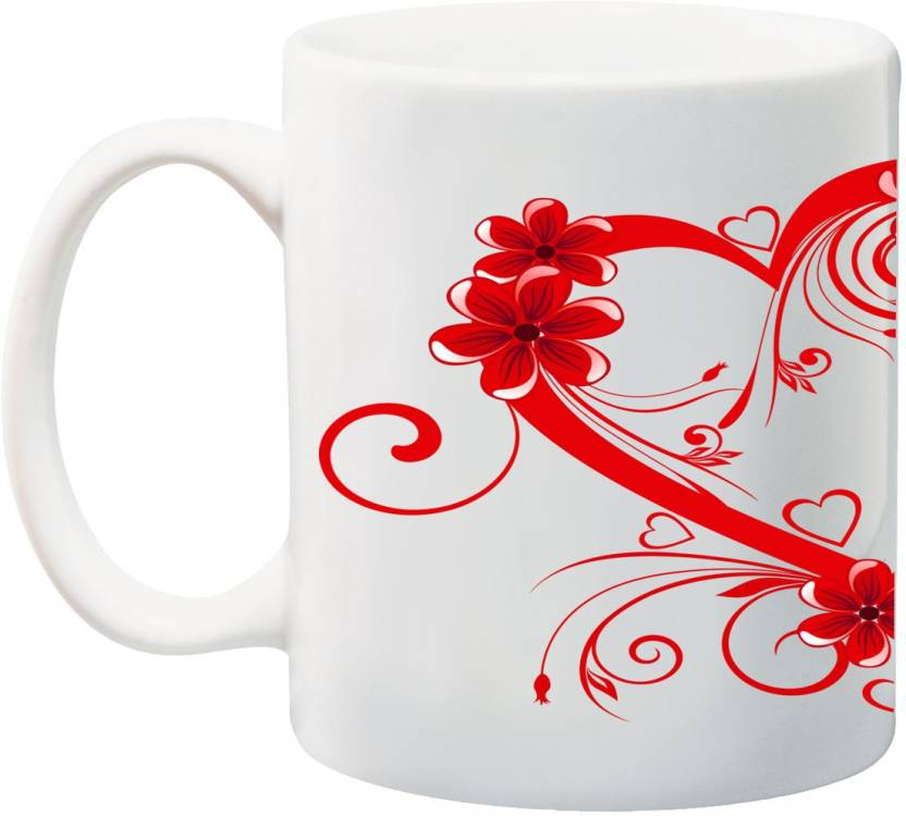 With On Flower Art Red Fire Border Your Coffee Of Anni69 Heart 0OPwkN8nX