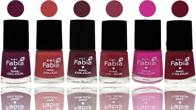 Fabia Nail Polish Matte Look Attractive Your Nails Boysenberry-Peach ...