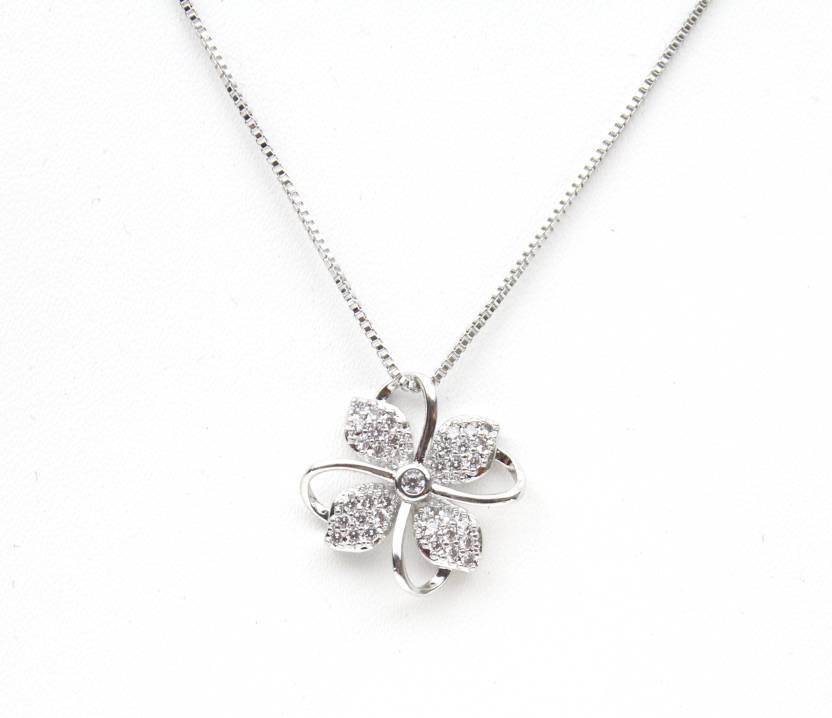 37dba4b5531e40 VSASA Vsasa s Platinum Plated Swiss Zircon Crystal Pendant Necklace for  Women Platinum Swarovski Zirconia Metal Pendant Price in India - Buy VSASA  Vsasa s ...