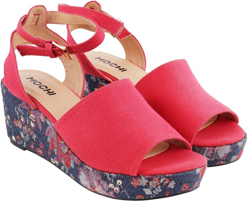 c5ad92d6e2 Mochi Women 18,Red Wedges - Buy Mochi Women 18,Red Wedges Online at Best  Price - Shop Online for Footwears in India | Flipkart.com