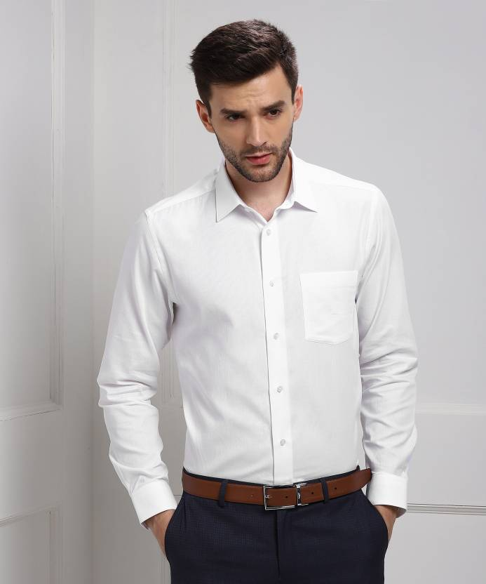 1dc9296df66 Blackberrys Men s Self Design Formal White Shirt - Buy White Blackberrys  Men s Self Design Formal White Shirt Online at Best Prices in India