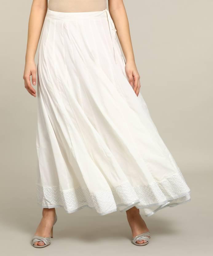 d2973748c9 Biba Solid Women's Regular White Skirt - Buy OFF WHITE Biba Solid ...