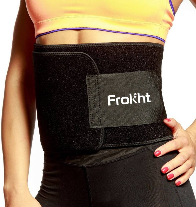 002b77e6afa67 Frokht Slimming Belt Premium Fat Loss and Best Sweat Belt for Men   Women  Size Small Slimming Belt (Black)