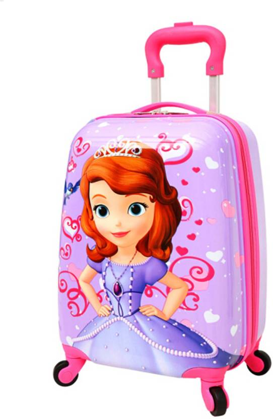 a7f6b980962c GOCART 360â Rotating Wheels,Princess Printed Pattern Non-breakable & Extra  Light Weight Kids Trolley Bag In Square Shape Small Travel Bag