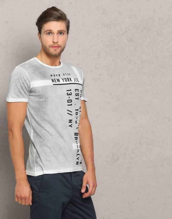 332c92d1 Metronaut Printed Men's Round Neck Grey T-Shirt - Buy Dark Grey Metronaut Printed  Men's Round Neck Grey T-Shirt Online at Best Prices in India   Flipkart. ...