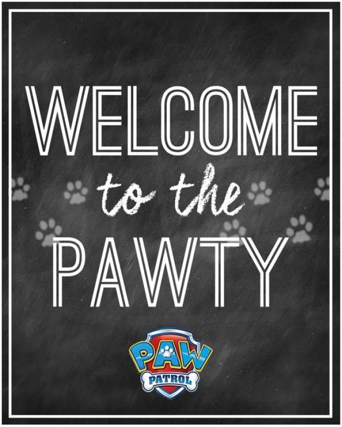 856afad96e Theme My Party Paw Patrol Welcome Banner For Birthday Party (Multicolor)