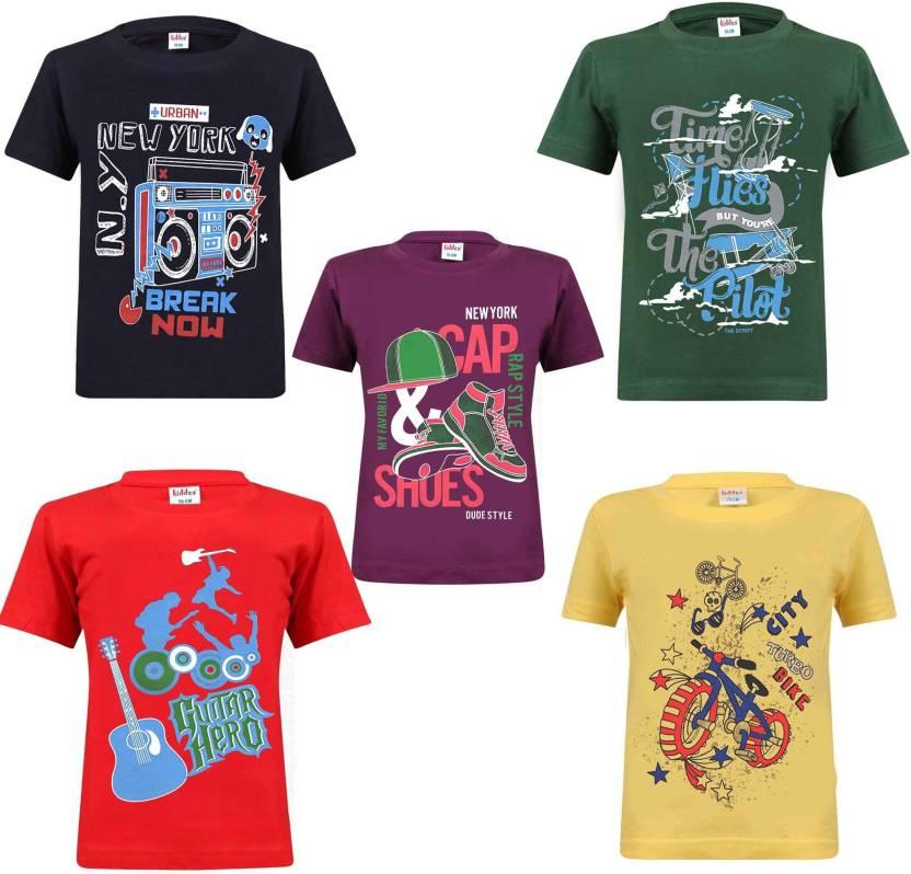 aeb5ab348301c FabTag - Kiddeo Boys Printed Cotton T Shirt Price in India - Buy ...