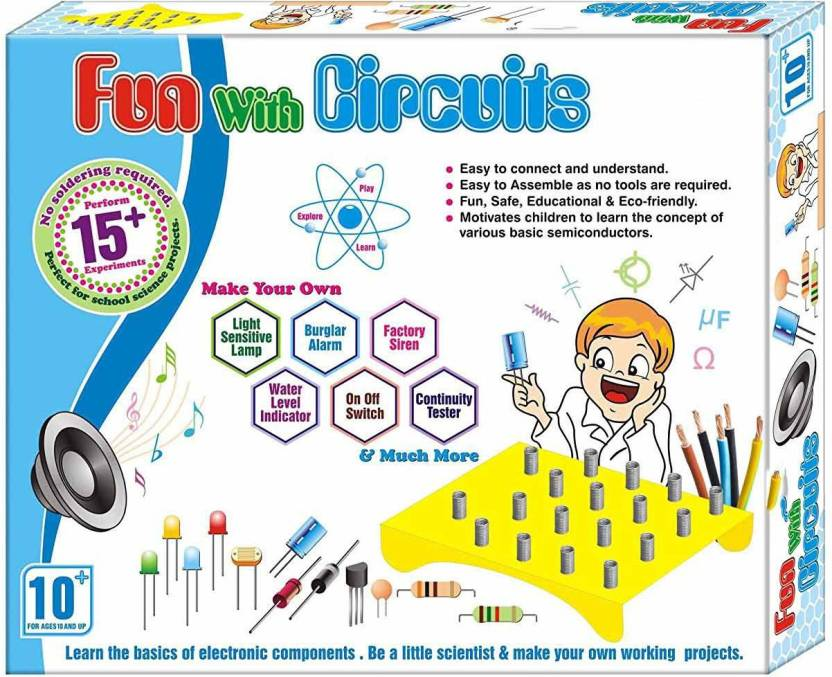 8999f3c5 Zeus Fun with Circuits Game school project perform 15+ experiments No  soldering required Learning and educational Easy to use electronic  components Working ...