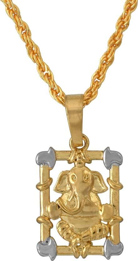 Memoir Brass, 2 colour Gold plated, Ganpati, Ganesh Temple