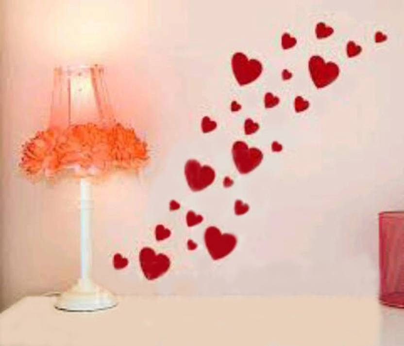Shoppingtree S Medium Size Heart Shaped Wall Sticker Price In India