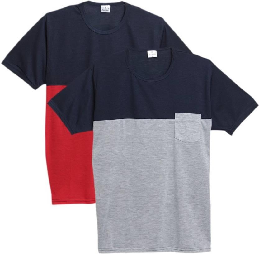 323957bbd71 Rico Sordi Solid Men s Round Neck Multicolor T-Shirt - Buy Rico ...