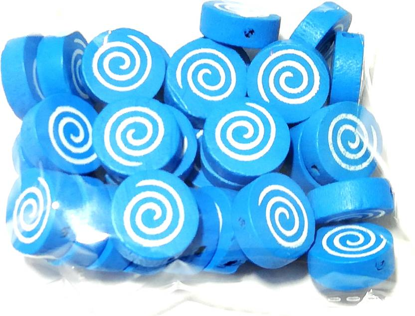 GOELX Wooden Spiral Candy Beads for Beading, Jewellery