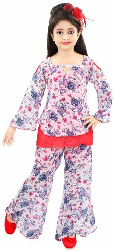 77b0ca991 Style Junction Girls Party(Festive) Top Pyjama Price in India - Buy ...