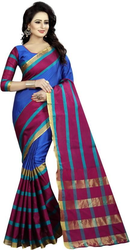 294520937fe50 Aayurda Self Design Maheshwari Polycotton Saree (Pink