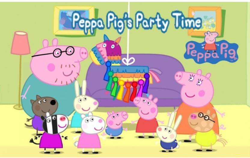 Theme My Party Peppa Pig Birthday Banner For Cake Table Background Scene Setter Multicolor
